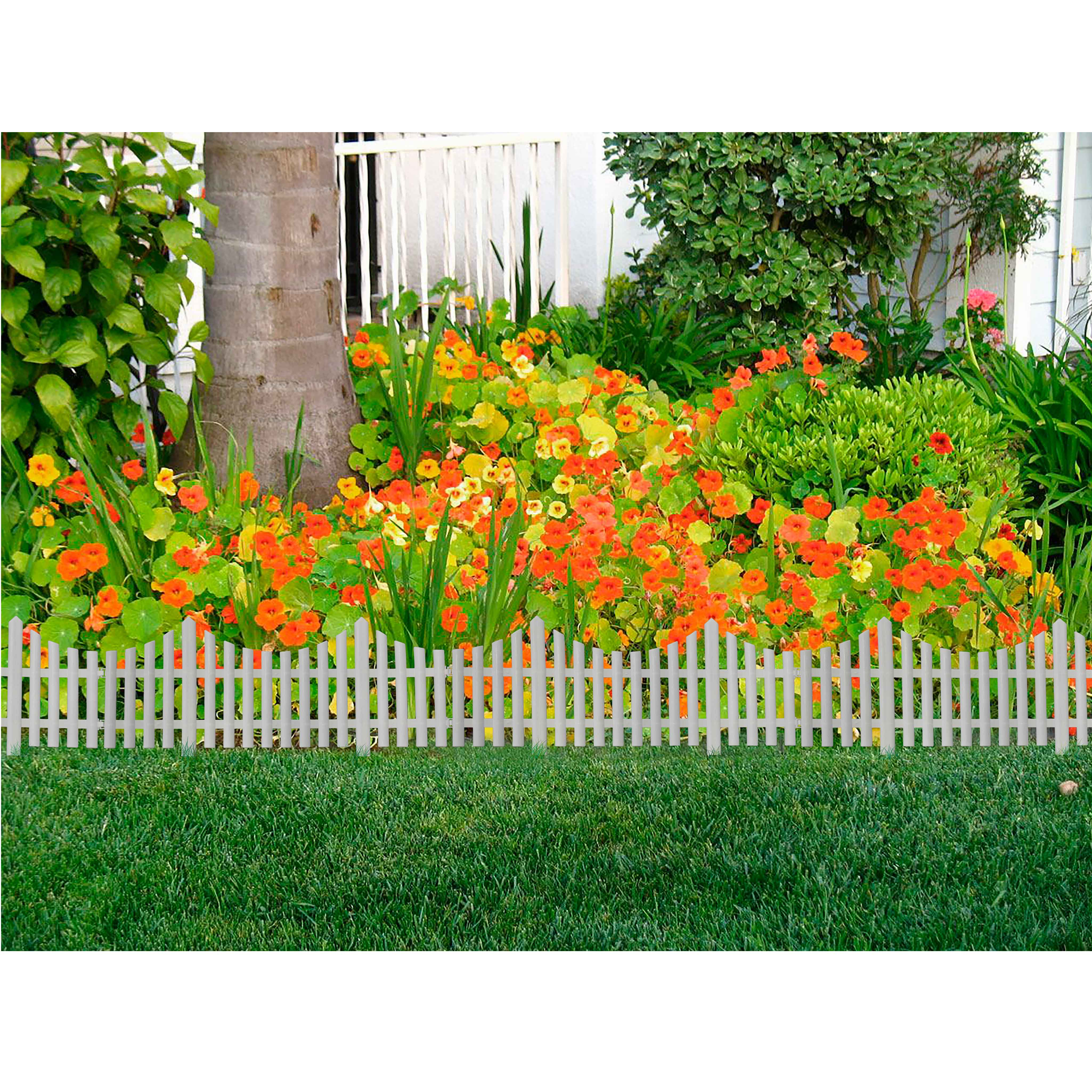Barrière de jardin blanche 60x32.5cm 4pc - Distriartisan