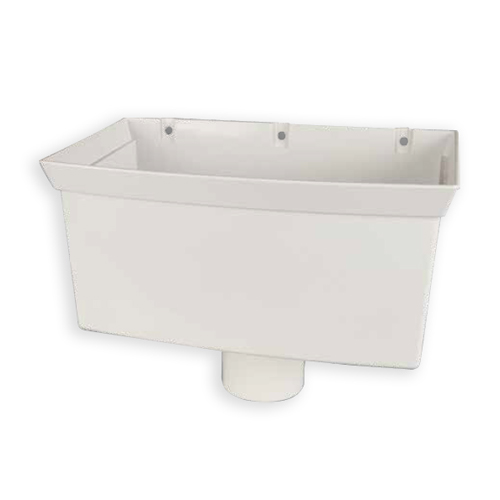 first plast bo te eau blanche en pvc 80 mm distriartisan. Black Bedroom Furniture Sets. Home Design Ideas