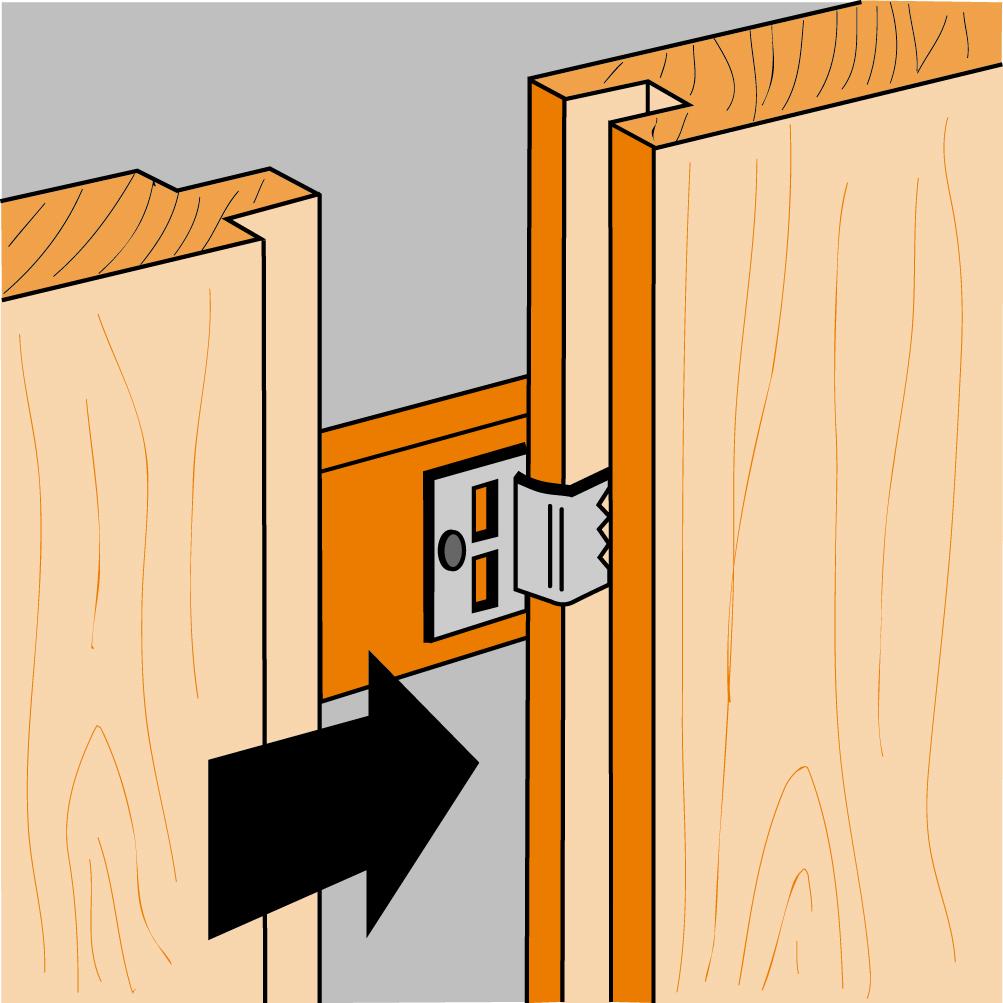 simpson crochet pour lambris bois dimensions au choix distriartisan. Black Bedroom Furniture Sets. Home Design Ideas