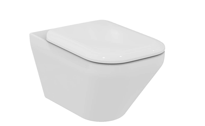 cuvette wc suspendue aquablade tonic ii sans bride avec abattant frein de chute ideal standard. Black Bedroom Furniture Sets. Home Design Ideas