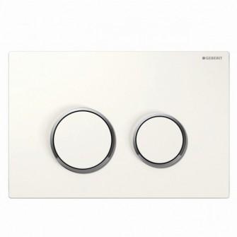 Plaque de commande Sigma 20 Geberit blanc-chrome-brillant