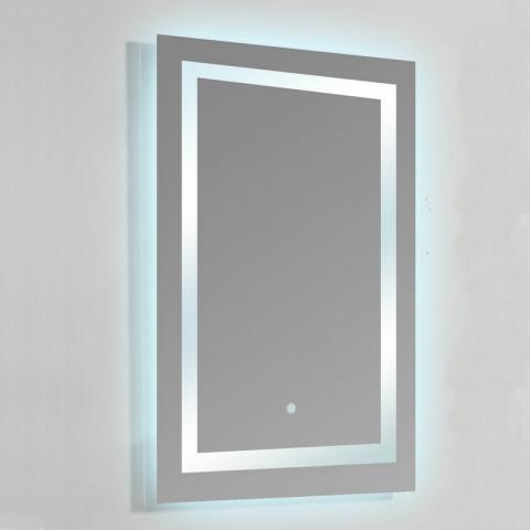 Miroir lumineux de salle de bain rectangle - rétro-éclairage led - 60x80 cm  - connec\'t 60