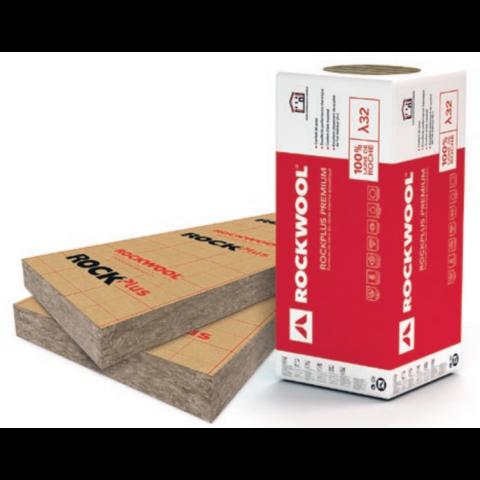 Panneau Isolant En Laine De Roche Rockplus Premium Kraft De Rockwool Palette épaisseur Au Choix