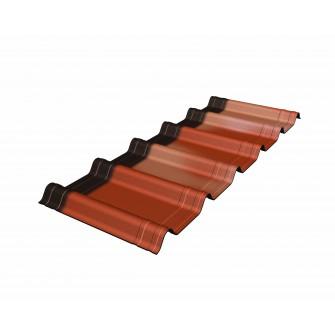 Tuiles Onduvilla 1.06 x 0.40 m Onduline (paquet de 7 plaques)