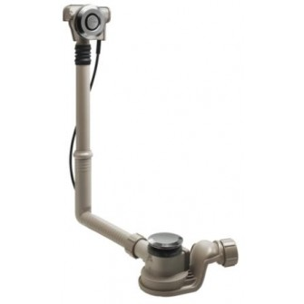 Vidage Geberit automatique Uniflex Pushcontrol pour baignoire standard ø 52 chromé brillant