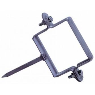 Collier de descente pointe carrée diam. 80 mm (boîte x25)
