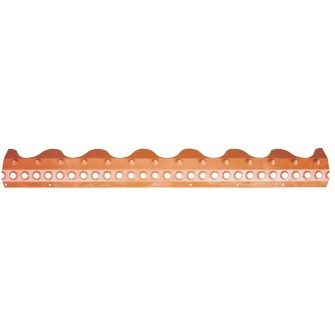 Closoir PEHD tuile béton double romane rouge brique 1,03 m