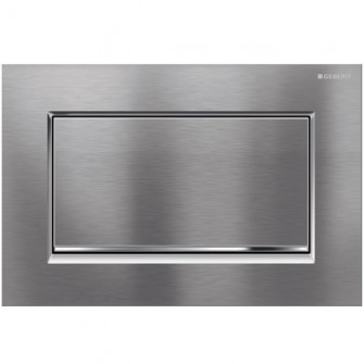 Plaque de commande Sigma 30 Geberit chrome-brossé/chrome-brillant