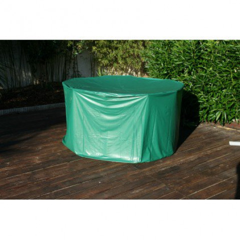 Housse de protection pvc pour table ronde de jardin - vert