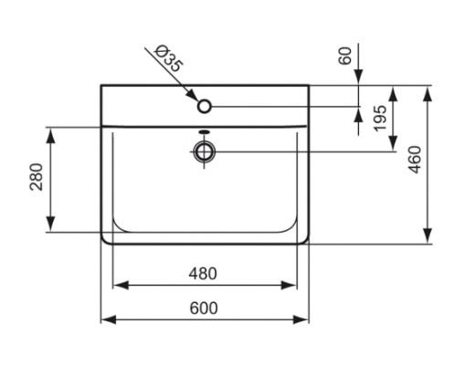 ideal standard lavabo cube connect distriartisan. Black Bedroom Furniture Sets. Home Design Ideas