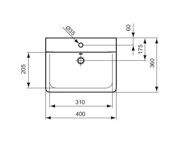 ideal standard lave mains connect cube 40 x 36 cm distriartisan. Black Bedroom Furniture Sets. Home Design Ideas