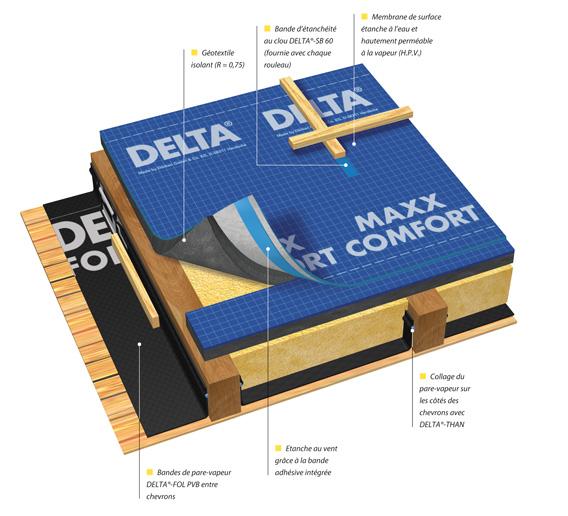 doerken syst me d 39 isolation de toiture delta maxx comfort distriartisan. Black Bedroom Furniture Sets. Home Design Ideas
