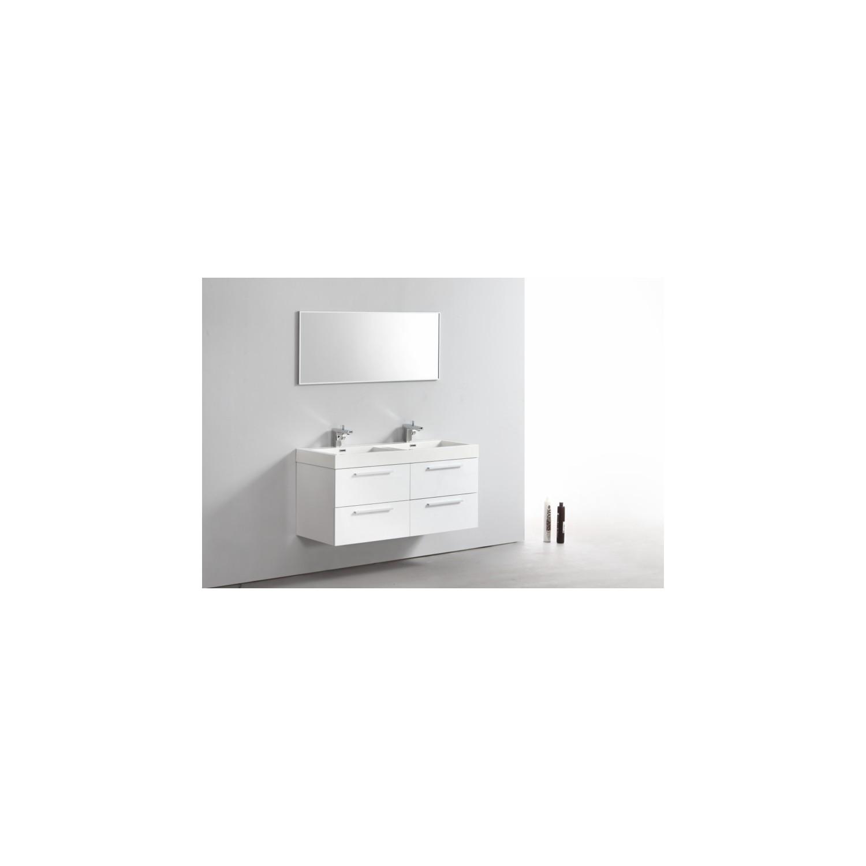 Import diffusion ensemble meuble salle de bains double for Ensemble meuble salle de bain 1 vasque