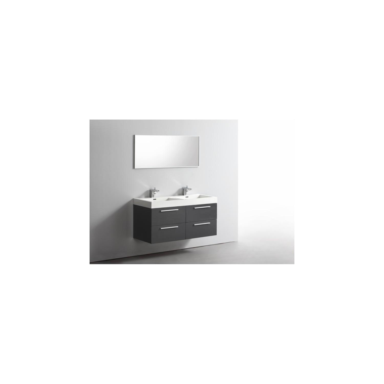 ensemble meuble salle de bains double vasque 120 cm ideo. Black Bedroom Furniture Sets. Home Design Ideas