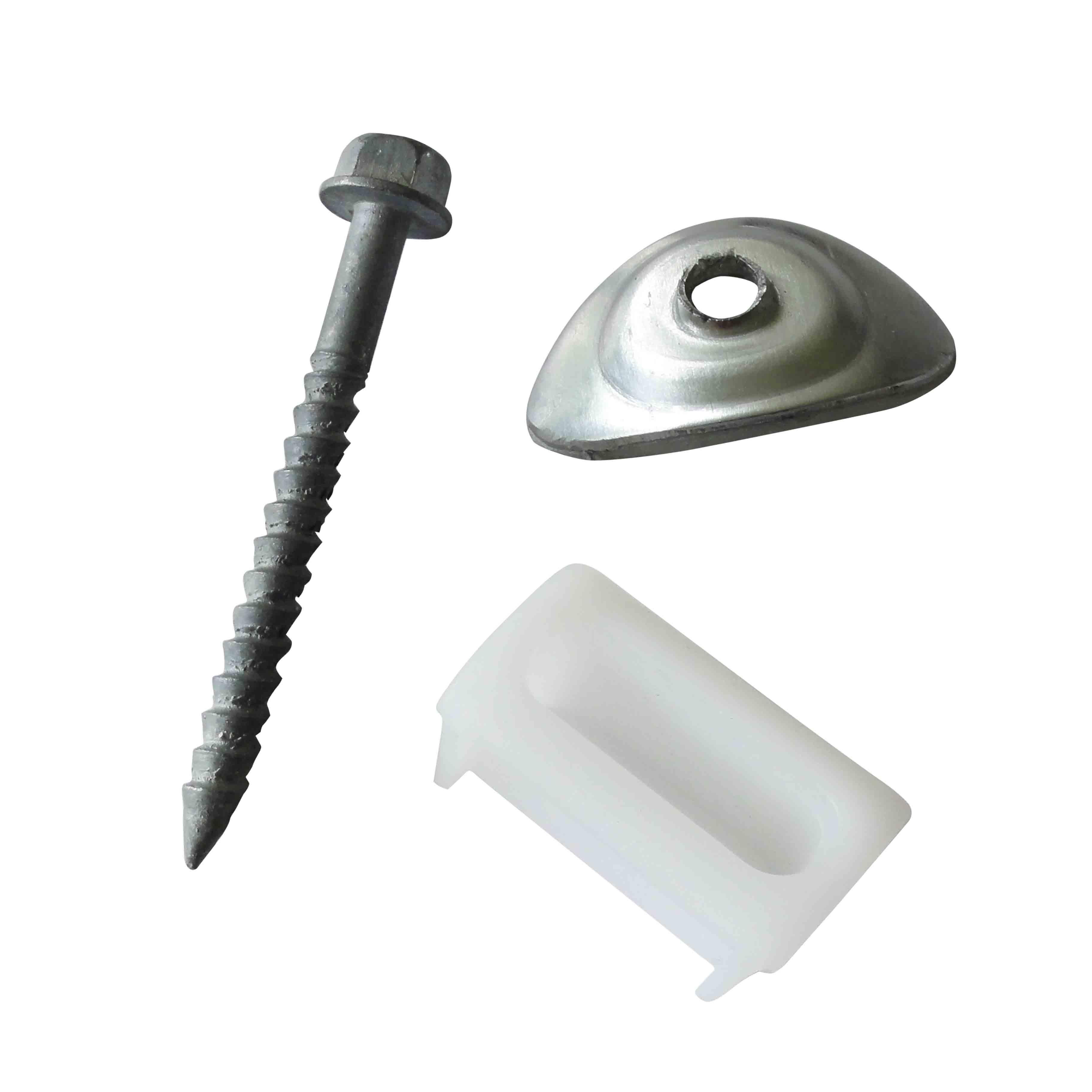 Onduline tirefonds pour plaques ondul es petites ondes for Fixation plaque polycarbonate alveolaire