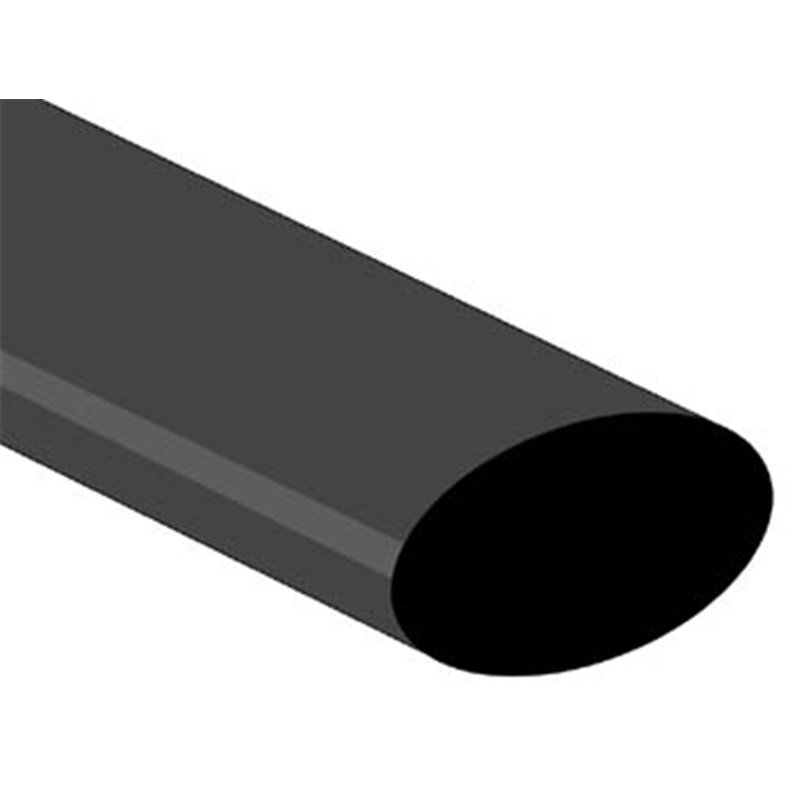 perel gaine thermoretractable 2 1 25 4mm noir 1m version