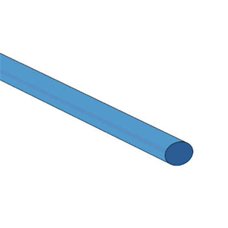perel gaine thermoretractable 2 1 4 8mm bleu 50 pcs