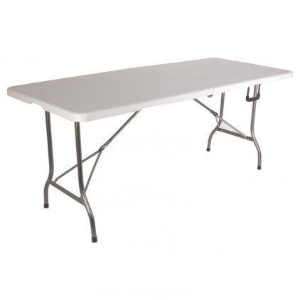 Ose - Grande table de jardin pliante blanche 8 pers 180 cm - blanc ...