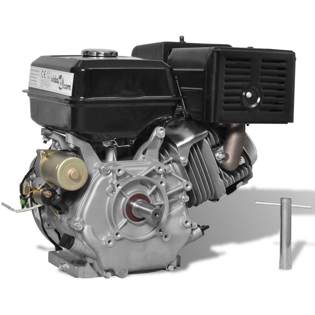 vidaxl vidaxl moteur essence 15 hp 9 6 kw noir d marrage lectrique distriartisan. Black Bedroom Furniture Sets. Home Design Ideas