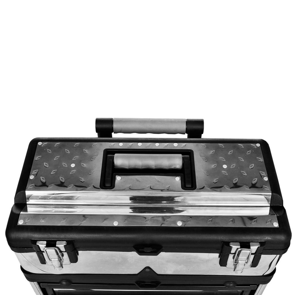 Vidaxl Caisse Valise Coffre Boîte à Outils Roulette