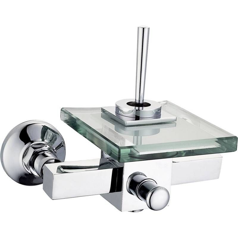 mitigeur de baignoire cascade chrom brillant cristali. Black Bedroom Furniture Sets. Home Design Ideas
