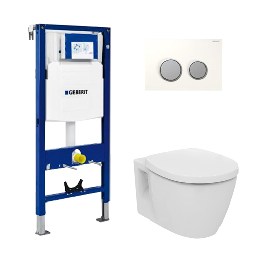 Geberit pack wc suspendu ideal standard en applique 3 for Hauteur standard wc suspendu