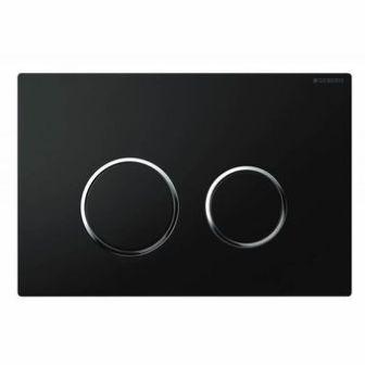 geberit plaque de commande sigma 20 noir chrome brillant. Black Bedroom Furniture Sets. Home Design Ideas