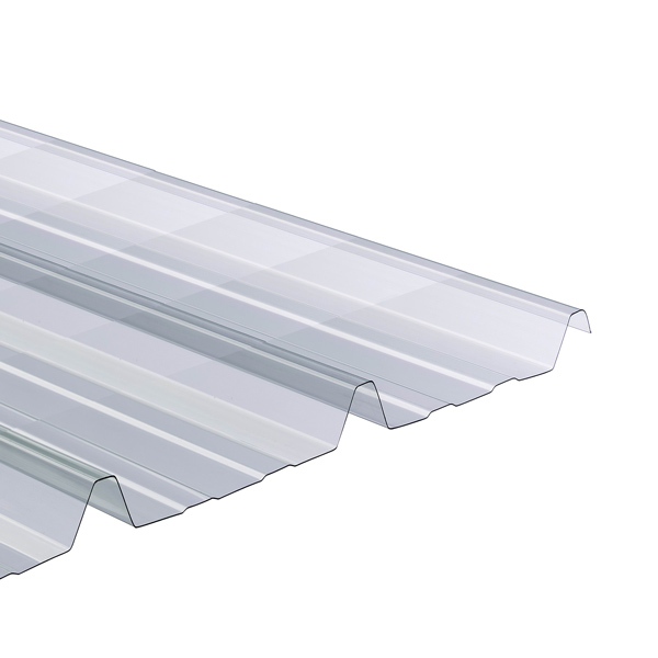 onduline plaque ondul e transparente polycarbonate 2 x 1 10 m ondes trap ze gr ca 76 18 20. Black Bedroom Furniture Sets. Home Design Ideas