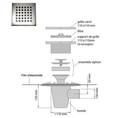 lazer kit pour douche italienne isotanche classic. Black Bedroom Furniture Sets. Home Design Ideas